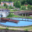 Wastewater filtering in water treatment plant — Stock Photo