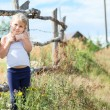 Beautiful little girl, summer day — Stock Photo #29474023
