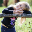 Beautiful little girl, summer day — Stock Photo #29474057