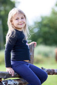 Beautiful little girl, summer day — Stock Photo
