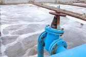 Blue pipeline — Stock Photo