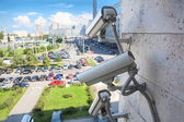Video surveillance cameras — Stock Photo