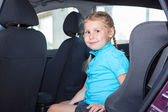 Young in car — Stock fotografie