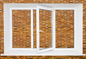 Plastic triple window — Stock Photo