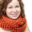 Stock Photo: Naked womwith scarf on neck