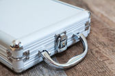 Steel briefcase one object — Stock Photo