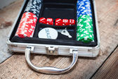 Poker set — Stock Photo