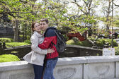 Сouple in the Sensoji garden — Foto Stock