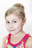Girl with diadem in hair — Stock Photo