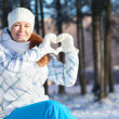 Pretty woman in winter clothes — Stock Photo