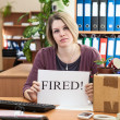 Stock Photo: Dismissal womin workplace