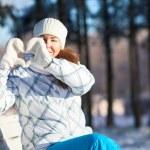 Pretty woman in winter clothes — Stock Photo