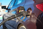 Car refuel in gas station — Stock Photo