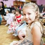 Girl in kindergarten class — Stock Photo