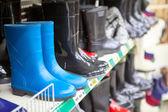 Waterboots w sklepie — Zdjęcie stockowe
