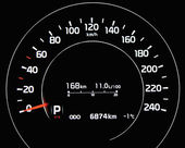 Digital car speedometer — 图库照片