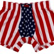 American Flag male pants isolated on white background — Stock Photo #20875557
