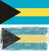 The Bahamas grunge flag. Vector illustration. — Vettoriale Stock