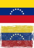 Venezuelan grunge flag. Vector — Stock Vector