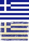 Greek grunge flag. Vector — Vecteur