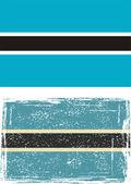 Botsvana grunge bayrak. vektör — Stok Vektör
