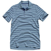 Men's polo shirt isolated on white background — Stock Photo