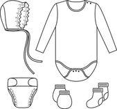 Set of child wear. Vector — Stock Vector