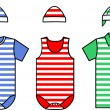 Set of the Baby clothes. Vector — Stock Vector