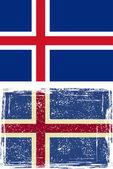 Флаг Исландии гранж. Вектор — Cтоковый вектор