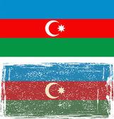 Azerbaijan grunge flag. Vector — Vector de stock
