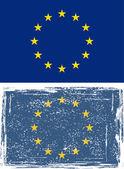 European Union grunge flag. Vector — Stock Vector