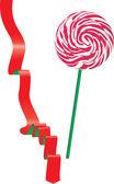 Lollipop and ribbon. Vector — Stock Vector