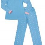 Blue children's pajamas. Isolated on white — Stock Photo