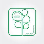 Eco Green Tree logo template. Vector — Stock Vector