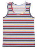 Sleeveless children's shirt isolated on white — Stock Photo