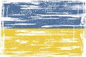 Ukrainian grunge flag — Vector de stock