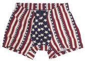 American Flag male pants isolated on white — Stock Photo