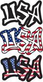 USA word graffiti style. Vector illustration. — Stock Vector