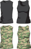 Black and Military Shirts template. Vector — Stock Vector