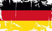 Germany grunge flag. Vector illustration — Stock Vector