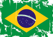 Brazilian grunge flag. Vector illustration — Vector de stock