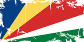 Seychelles grunge flag. Vector illustration — Stock Vector