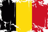Belgian grunge flag. Vector illustration — Vettoriale Stock