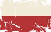 Polish grunge flag. Vector illustration — Stock Vector