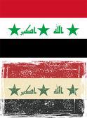 Bandera de Irak grunge. ilustración vectorial — Vector de stock