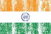 Bandera de India grunge. ilustración vectorial. — Vector de stock