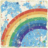 Abstract grunge background with rainbow. Vector — Stock Vector