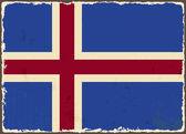 Флаг Исландии гранж. Векторные иллюстрации — Cтоковый вектор
