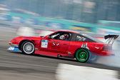 Drift car in action — Stockfoto