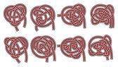 Set of vector celtic design elements — Stock Vector